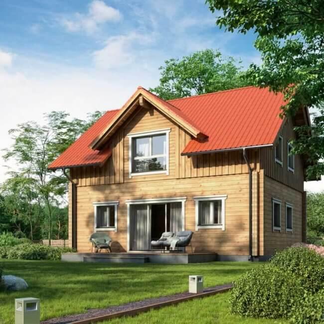 BISON Haus aus Holz 130