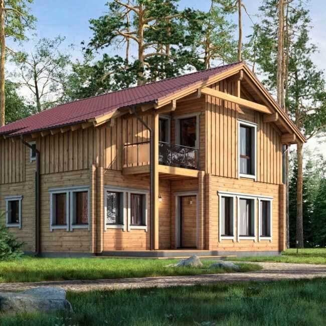 BISON Haus aus Holz 145