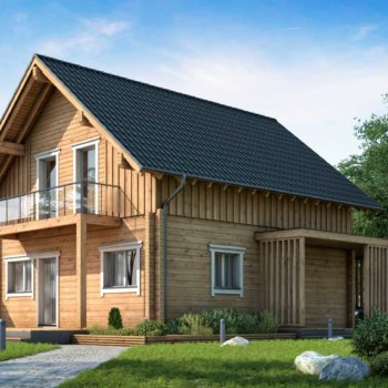 BISON Haus aus Holz 122
