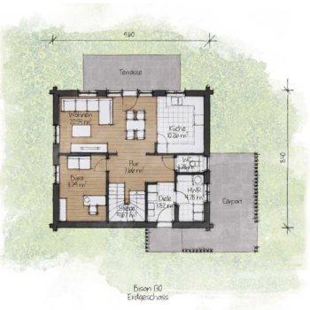 BISON Haus 130 Grundriss