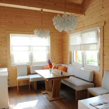 Esszimmer im Holzhaus